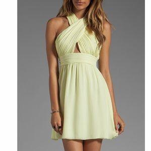 Alice & Olivia Martine Silk Wrap Criss Cross Dress